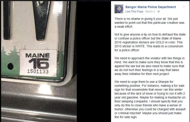 Great Move By This Guy From Maine With The Fake Inspection